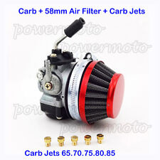 Racing Carburetor Filter Carb Jets 50-80 cc 2 stroke Motorized Bicycle Push Bike
