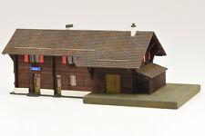150303 Spur N Bahnhof Rueun RhB Lasercut-Bausatz neu und OVP