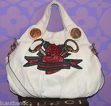 GUCCI 4K Exotic Python Snakeskin Hysteria Tattoo Horsebit/Rose/Heart Bag LIMITED