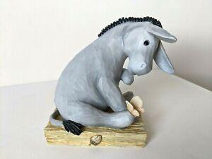 "Disney / Border Fine Arts A5431 / Classic Winnie the Pooh / 7"" Eeyore Figurine"