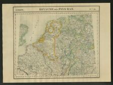 """Royaume des Pays-Bas"" #13 NW Europe Benelux Germany. VANDERMAELEN 1827 map"