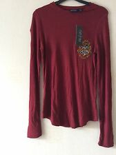 Primark Harry Potter Hogwarts Gryffindor Style Stretch Jumper Top UK 12 EU 40