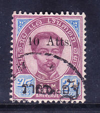 THAILAND 1899 SG62 10a on 24a purple & blue fine used. Catalogue £900