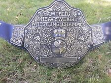 Fandu World Heavyweight Championship Adult Belt Metal Plates  Antique Gold