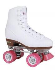 Chicago Roller Skates, Quad Skates, Size 7 (Women's 8), White with Pink