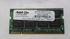 1GB Memory CL2.5 DDR PC2700 SD RAM SODIMM AA16S12864-PC333