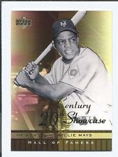 2001 UPPER DECK  HALL OF FAMERS  20TH Century Showcase  WILLIE MAYS