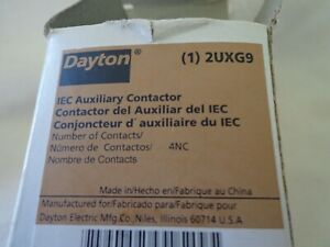 Dayton 2UXG9 Auxiliary Contactor 4NC Contacts