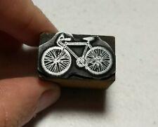 Vintage Letterpress Printing Block Bicycle