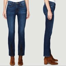 FRAME Le High Straight Leg Cropped Ankle Gusset Jean in Bay, Dark Wash - Size 29