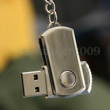 128MB USB 2.0 Swivel Metal Key Chain Flash Drive Memory Stick U Disk Thumb