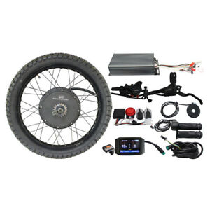 Ebike 48-72V 100A 3000W-5000W 19'' Motorcycle Rim Rear Wheel Conversion Kit 24''