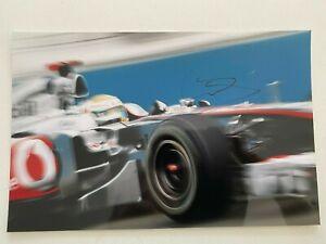 Lewis Hamilton signed McLaren F1 A4 photo