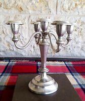 Candelabra for 5 candles Vintage silver plated Ianthe of England  Elegant design