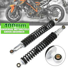 """Pair 15.75"""" 400mm Motorcycle Rear Shock Absorbers Air Suspension Fit For Yamaha"""