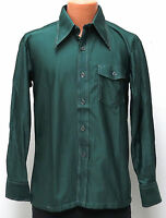 NEW vtg Burma FOREST GREEN Disco Shirt Fits MED Prince Igor 70s deadstock M