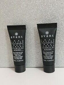 2 X Avant Deluxe Hyaluronic Acid Vivifying Face & Eye Night Cream 20ml new