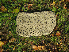 CATS LEAVE PAW PRINTS ON OUR HEARTS  memorial plaque /more design's in my
