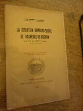 Barrau de Lorde Situation démocraphique Luchon fin 17e Inventaire maison rurale