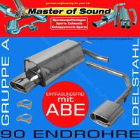MASTER OF SOUND DUPLEX EDELSTAHL AUSPUFF AUDI A4 B6 QUATTRO LIMO+AVANT
