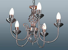 CLASSIC SATIN CHROME FINISH 5 LIGHT CEILING LIGHT FITTING