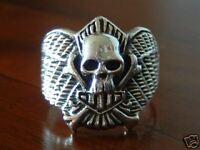 Chopper Totenkopfring Skull Biker Ring, 925 Silber 046
