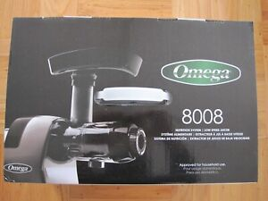 NEW IN BOX OMEGA 8008 NUTRITION SYSTEM LOW SPEED JUICER J8008C