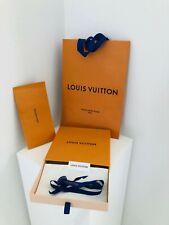 Authentic Louis Vuitton Gift Box, Envelope, & Carry Bag