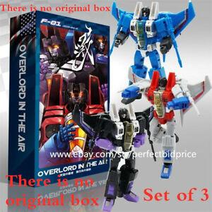 New Deformabl Robot Starscream Thundercracker Skywarp MFT F01 Action Figure Toys
