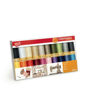 Gutermann Cotton Assorted Sewing Thread Set 100mtr x 20 reels 734520-1
