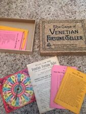 """SALE Vintage """"The Game of Venetian Fortune Teller"""" By Parker Brothers 1920's"""