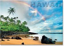 Hawaiian Art Collectible Refrigerator Magnet - Rainbow Land by M&M Sweet