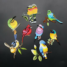 1Pc Bird Parrot Cardinal Peacock Applique DIY Patches Embroidered Iron On Patch