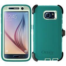 OtterBox Defender Series Samsung Galaxy S6 Case & Belt Clip Holster Green Teal