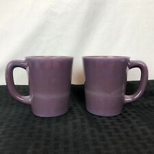 Mosser Glass Eggplant Purple Coffee Mug Plum (Set of 2)