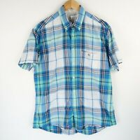 Lacoste Mens Smart Casual Shirt Short Sleeve Checked SZ Large (E2742)