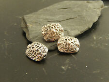 Lot de 50 perles intercalaire argenté vieilli forme toupie 5 mm x 3 mm-pir132