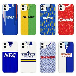 Retro Football Shirt Hard Phone Case for iPhone 11 12 & 12 pro - All Teams