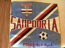 U.C. SAMPDORIA 1946 BANDIERA STADIO CALCIO ANNI '70 CON STEMMA MARINAIO BACICCIA