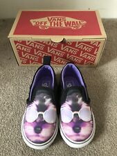 Vans Boys Slip Ons Shoes UK Junior Size 6.5 Purple