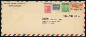 MayfairStamps Habana National Airlines to Miami Florida Aviation Air Mail Cover