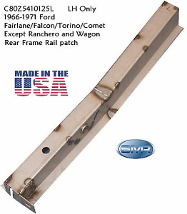 1966 - 1971 Ford Fairlane Rear Frame Rail LH - MADE IN USA