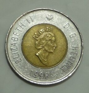 1996 Canadian 2 Dollar Coin Toonie Twoonie - Exact Coin