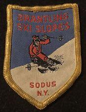BRANTLING SKI SLOPES Vintage Skiing Patch Sodus NEW YORK NY Souvenir Travel