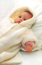 Easy Garter Stitch Baby Sleeping Bag Hood /Cot Cover 0-9 months Knitting Pattern