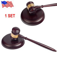 Craft Court Hammer Gavel Handmade Wooden Auction Lawyer Judge Hammer Sound Block