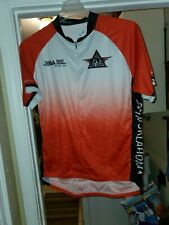 Primal Mens Red Rider American  Diabetes 3/4 Zip Up Cycling Jersey sz 2XL