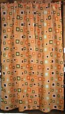 "(1) Pair Abstract Motif Curtains w/ 2 Tiebacks ~ Multi ~ 42"" W x 84"" L  Ea Panel"