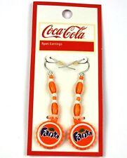 coca cola fanta Pendientes EarRings TAPA DE BOTELLA FORMA BOTTLE CAP Estilo