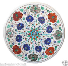 """12""""x12"""" Marble Round Coffee Table Top Pauashell Stone Marquetry Home Decor H1813"""